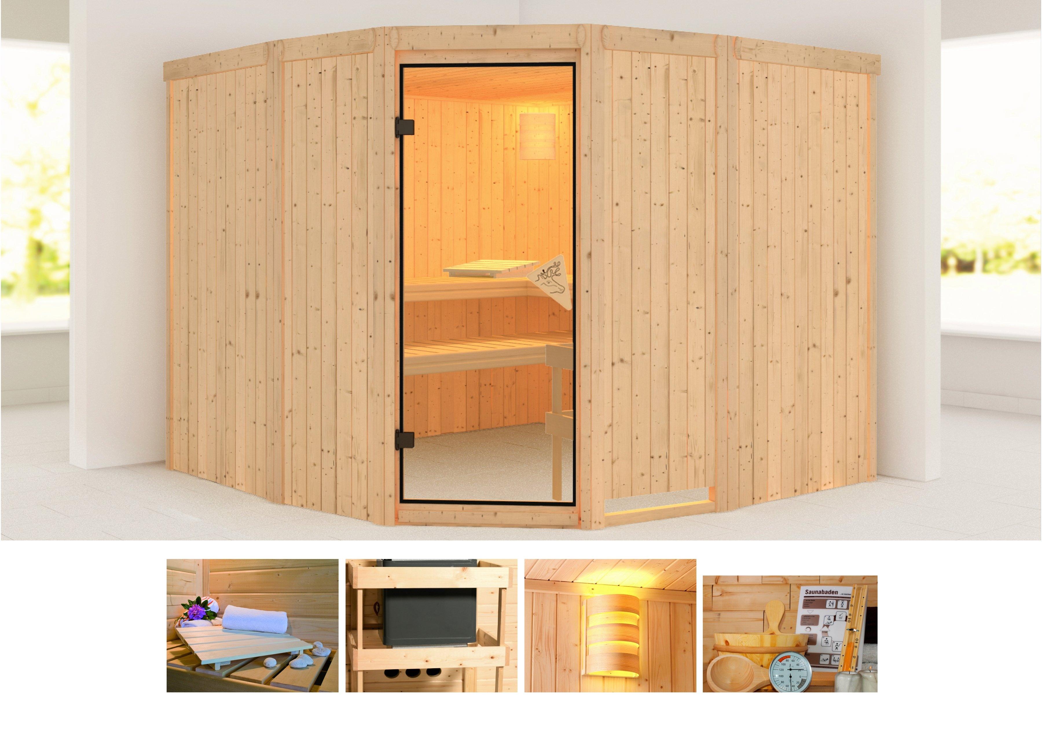 KONIFERA sauna »Simara 3«, 231/231/198 cm, ohne Ofen nu online kopen bij OTTO