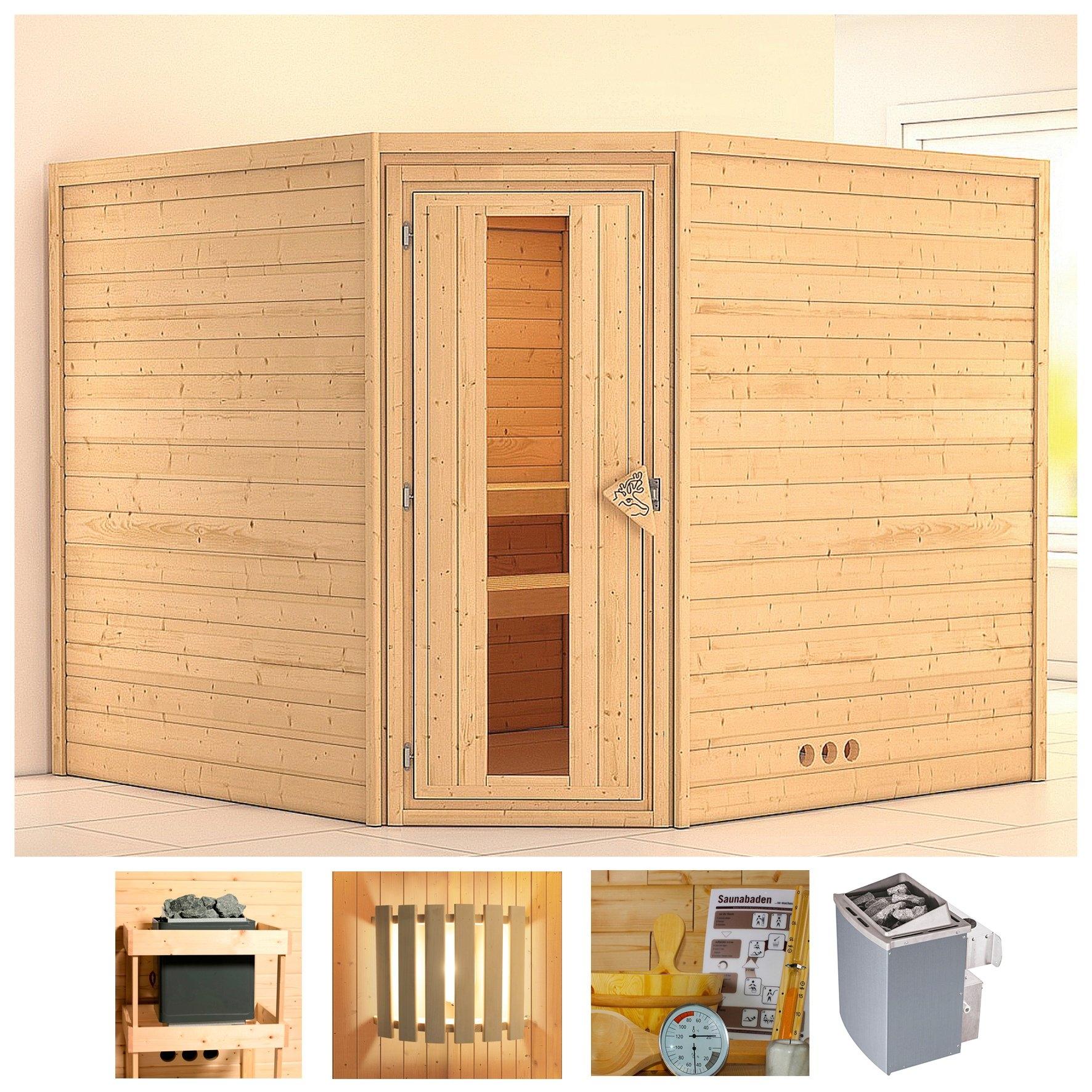 Op zoek naar een Konifera sauna »Leona«, 231/231/200 cm, 9-kW-Ofen mit int. Steuerung, Holztür? Koop online bij OTTO