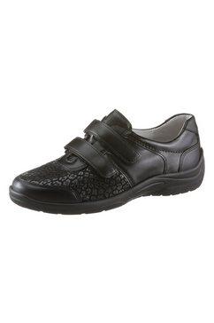 waldlaeufer klittenbandschoenen met pu-loopzool in antislipverwerking zwart