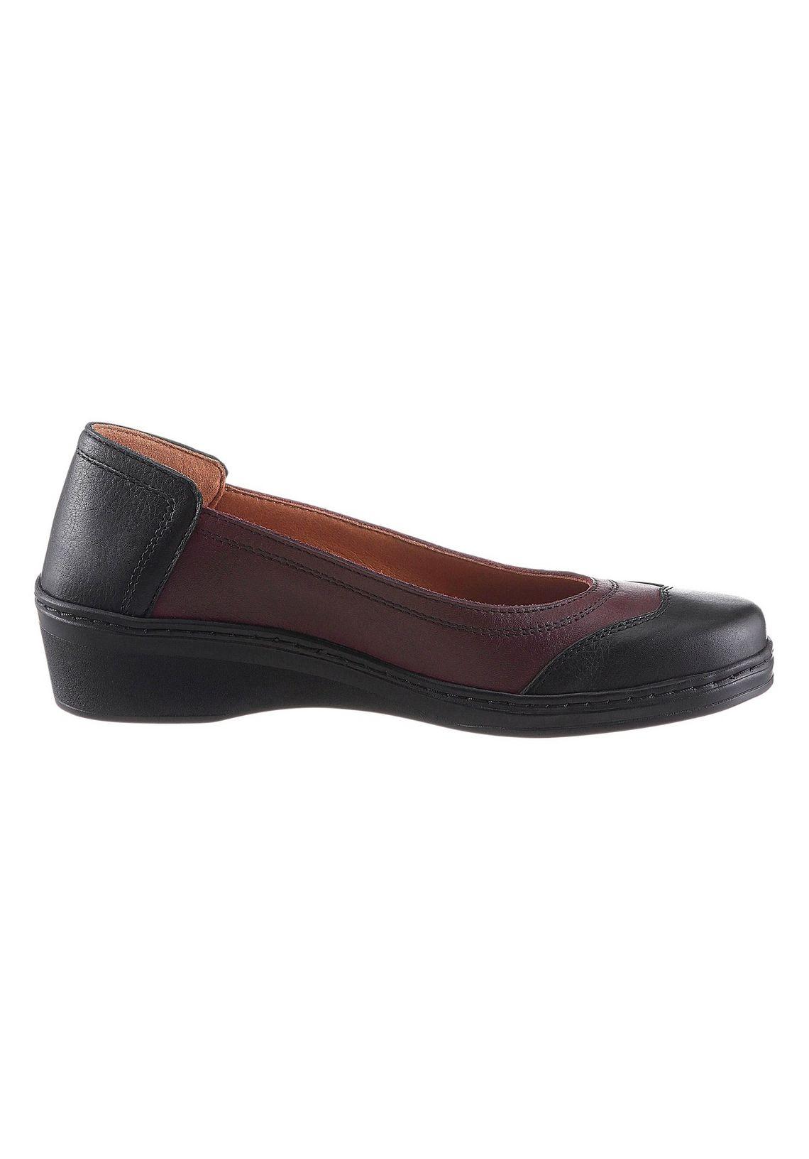 Valmonte ballerina's met verwisselbaar voetbed? Bestel nu bij  zwart/bordeaux