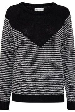 blendshe trui met ronde hals zwart