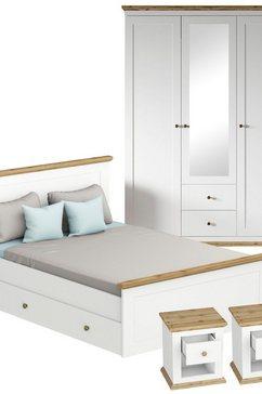 home affaire slaapkamerserie banburry 4-delig (set, 4 stuks) wit