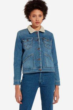wrangler jeansjack blauw