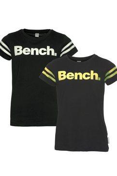 bench. t-shirt »print licht op in het donker« zwart