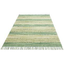 home affaire collection vloerkleed priya tweezijdig te gebruiken kleed, woonkamer groen