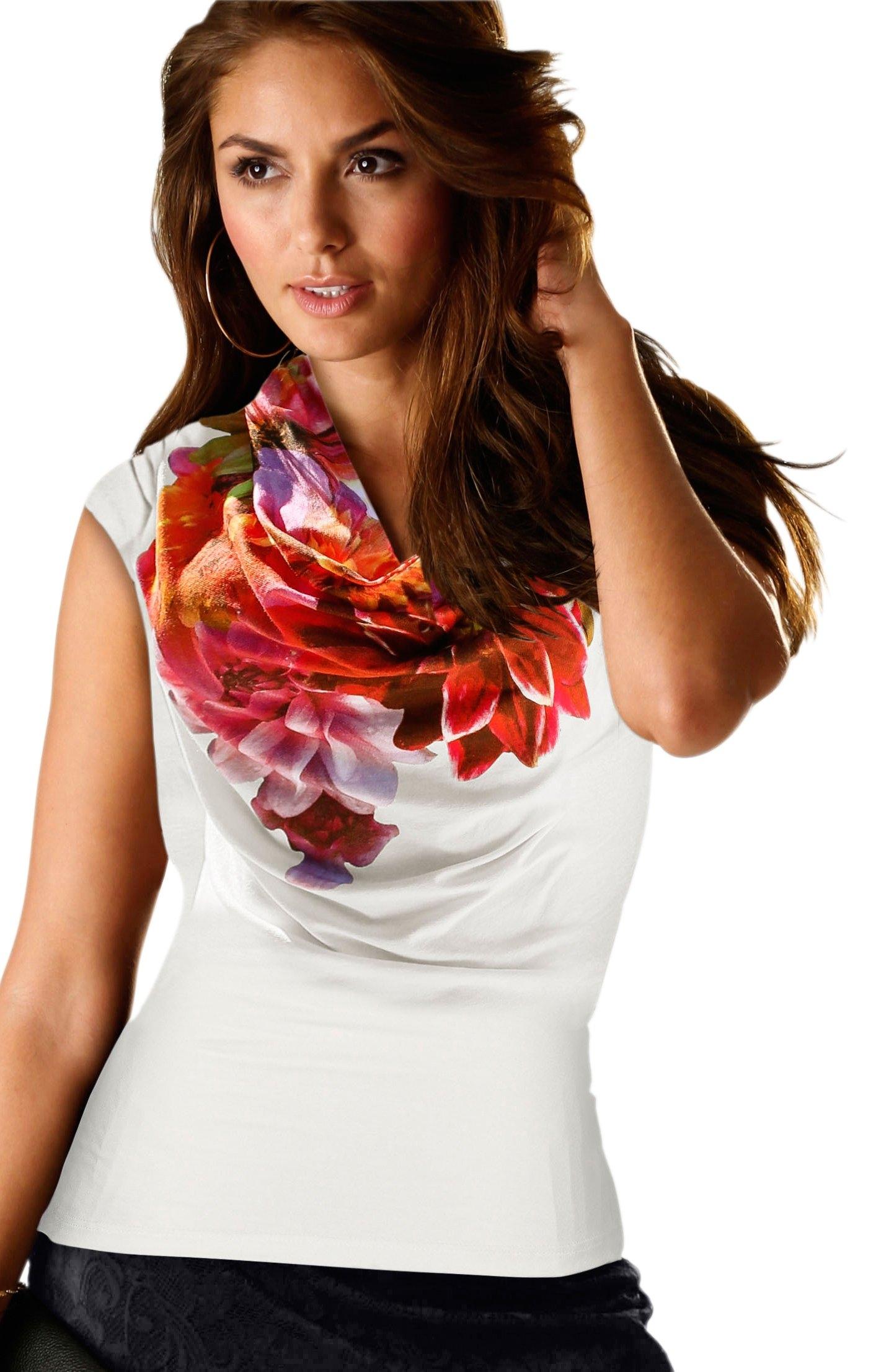 Alessa W. shirt met op dessin geplaatste bloemenprint - verschillende betaalmethodes