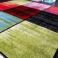 paco home vloerkleed ece 952 korte pool, ruit-design, woonkamer multicolor