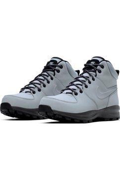 nike sportswear hoge veterschoenen »manoa leather boot« grijs