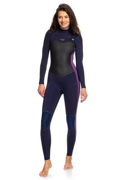 roxy wetsuit met een borstrits »3-2mm performance« blauw