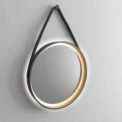 talos badkamerspiegel »golden summer«, ø 55 cm, ronde spiegel met verlichting zwart