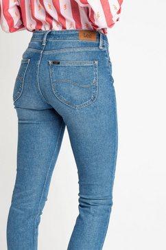 lee slim fit jeans »elly« blauw