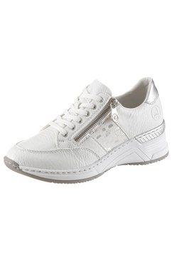 rieker sneakers met sleehak met uitneembare leren binnenzool wit