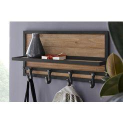 kare design kapstokpaneel cottage bruin