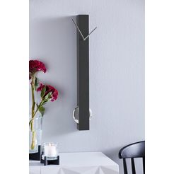 kare wandklok »pendulum« zwart