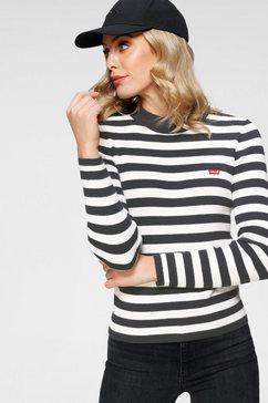 levi's gebreide trui »crew rib sweater« zwart