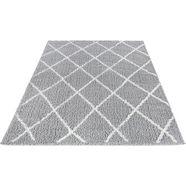 hoogpolig vloerkleed, »pula 79803«, luxor living, rechthoekig, hoogte 35 mm, machinaal geweven grijs