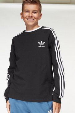 adidas originals shirt met lange mouwen 3-stripes longsleeve zwart