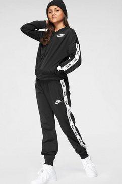nike sportswear trainingspak »girls nike sportswear tracksuit tricot« (set, 2-delig) zwart