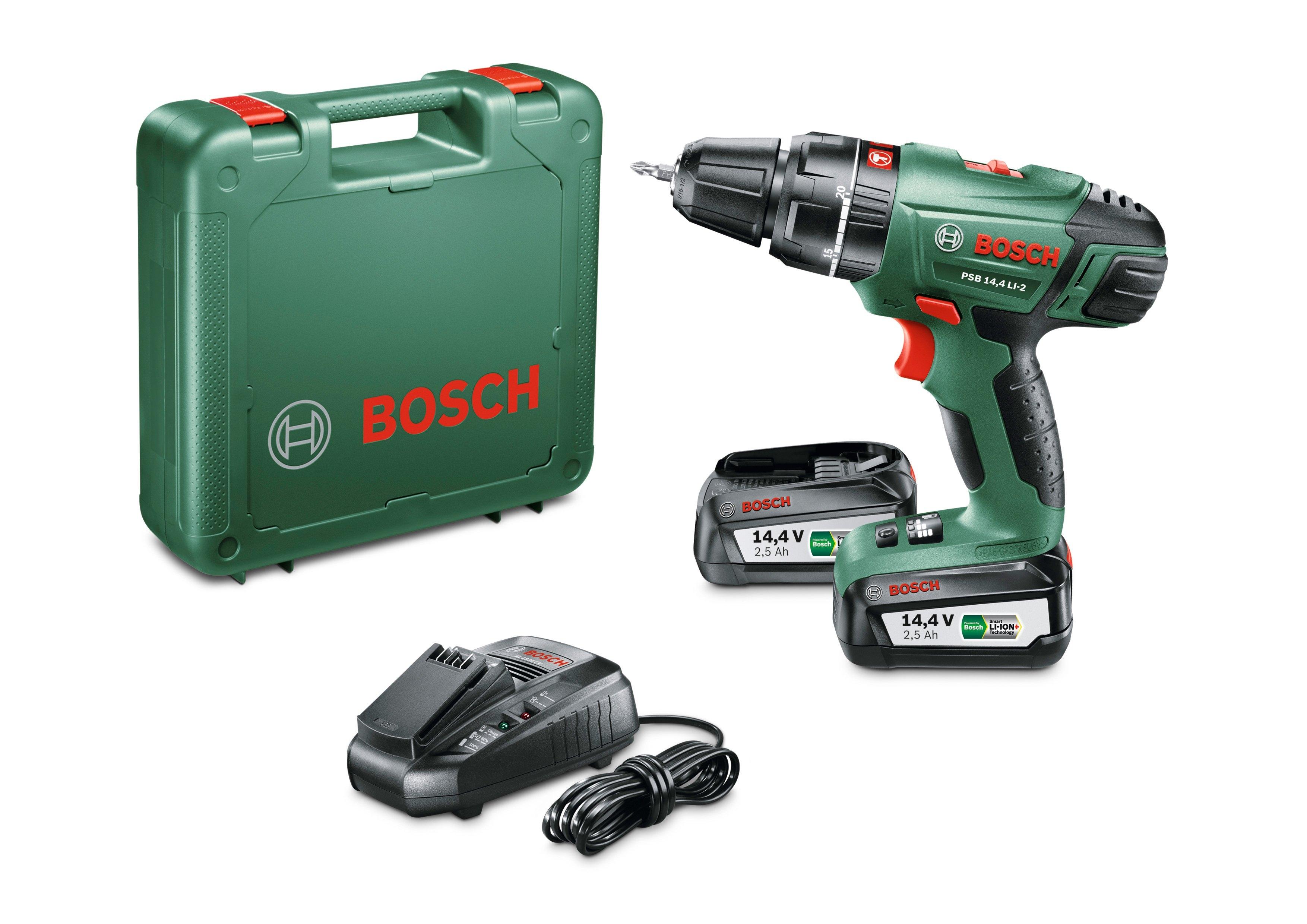 Bosch Accuklopboormachine »PSB 14,4 LI-2«, 2 Akkus, 14,4 V, oplaadapparaat & koffers - gratis ruilen op otto.nl