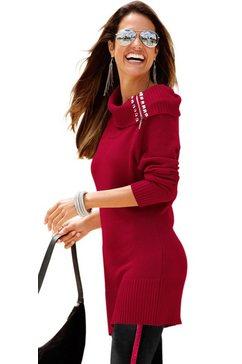 classic inspirationen trui met siersteentjes bij de hals rood