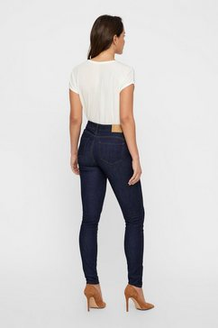 vero moda skinny fit jeans »seven« blauw