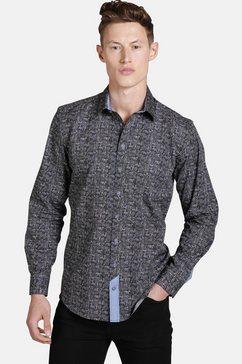 shirtmaster hemd met lange mouwen »wildpaisley« blauw