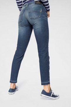 herrlicher 7-8 jeans »touch cropped« blauw