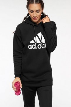 adidas performance hoodie »w mh batch of sports oh hoody« zwart