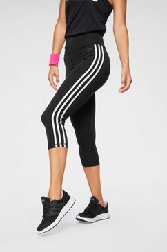 adidas functionele tights »design to move 3 stripes 3-4 tight« zwart