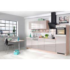 held moebel keukenblok met elektrische apparaten »virginia, breedte 300 cm« grijs