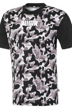 puma t-shirt »rebel camo fill tee« grijs