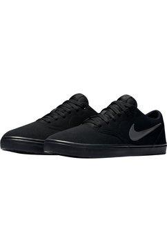 nike sb sneakers »check solarsoft canvas skate« zwart