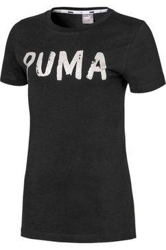 puma t-shirt »alpha tee« zwart