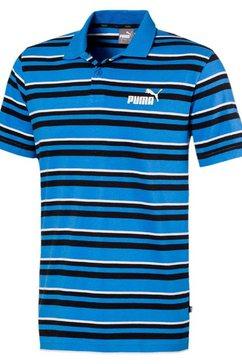puma poloshirt »essential + stripe j.polo« blauw