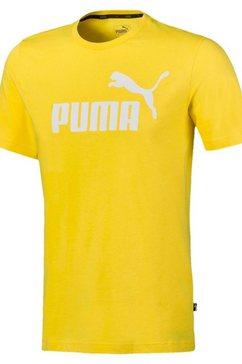 puma t-shirt »essential logo tee« geel