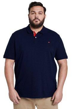 tom tailor men plus poloshirt met geborduurd logo blauw