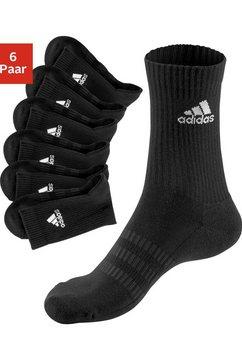 adidas performance tennissokken met voetbekleding (6 paar) zwart