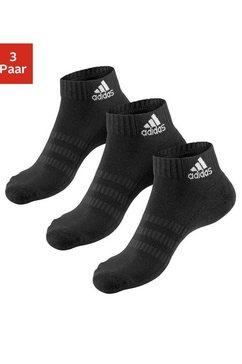 adidas performance korte sokken met anatomische bekleding (3 paar) zwart