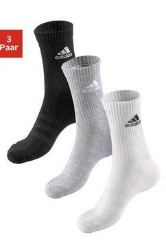 adidas performance tennissokken (3 paar) zwart