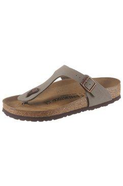 birkenstock teenslippers gizeh bf met voorgevormd voetbed grijs