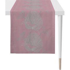 apelt tafelloper »nora - herbstzeit, jacquard«, apelt (1-delig) roze