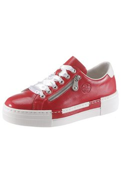rieker plateausneakers rood