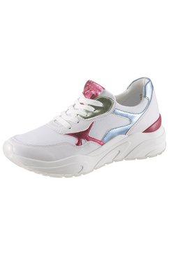 marco tozzi sneakers met sleehak »roca« wit