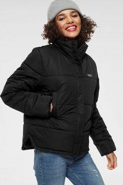 vans gewatteerde jas »galatic spiral puffer jacket mte« zwart