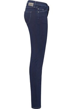 mustang stretch jeans »jasmin slim« blauw