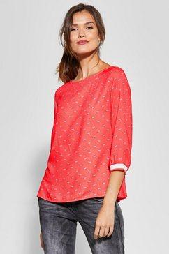 street one blouse zonder sluiting rood