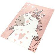 vloerkleed voor de kinderkamer, »eenhoorn«, rechthoekig, hoogte 12 mm, machinaal geweven roze