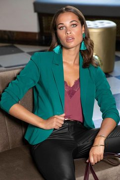 melrose blazer in getailleerde snit groen