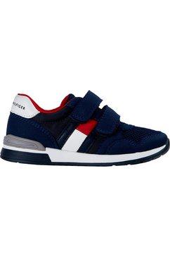 tommy hilfiger sneakers low cut velcro met een dubbele klittenbandsluiting blauw