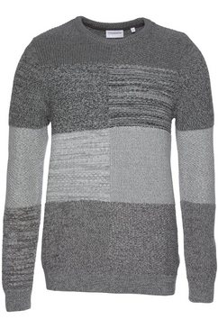 lindbergh gestreepte trui grijs